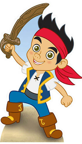 Jake and the Neverland Pirate Cardboard Cutout - 120cm Product Gallery Image
