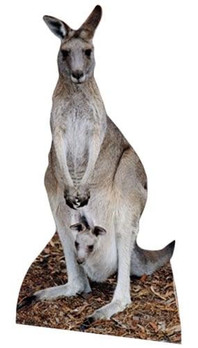 Kangaroo Lifesize Cardboard Cutout 195cm Partyrama Co Uk