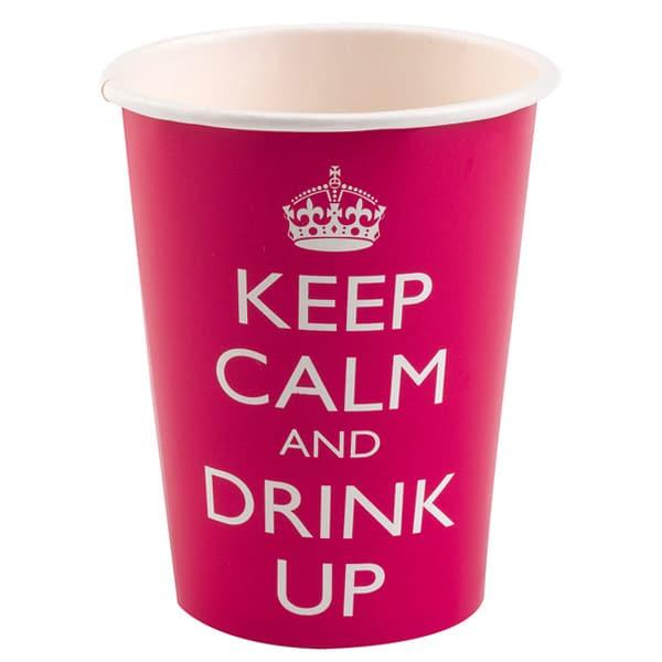 Keep Calm Theme Paper Cup - 9oz / 266ml