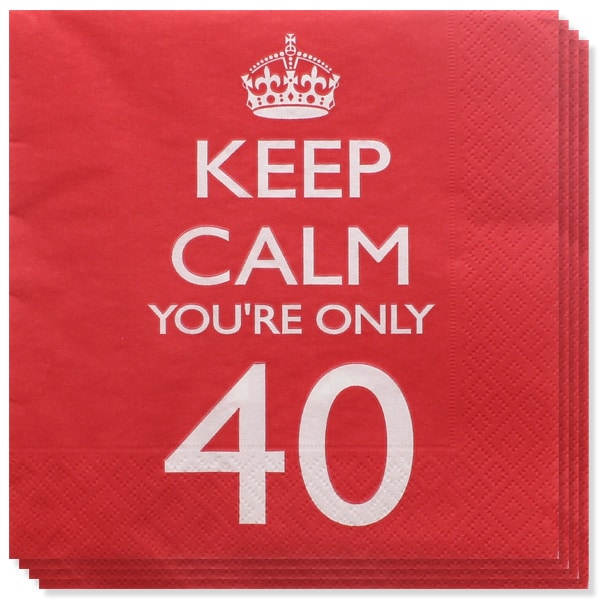keep-calm-theme-age-40-paper-napkins-pack-of-20-product-image