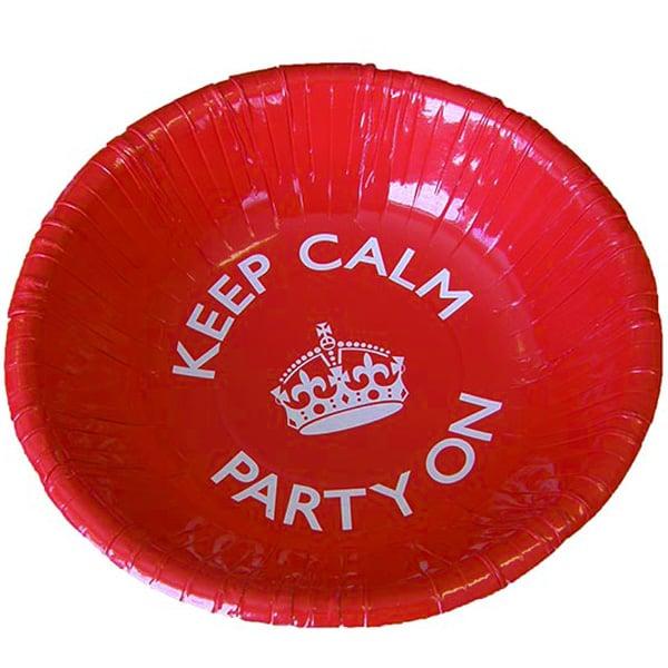 Keep Calm Theme Dessert Bowl - 7 Inches / 18cm
