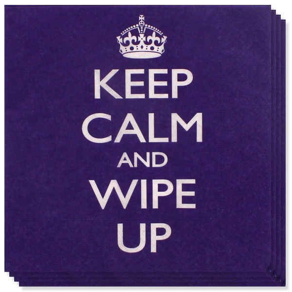 Keep Calm Theme 2 Ply Paper Napkins - 13 Inches / 33cm - Pack of 20