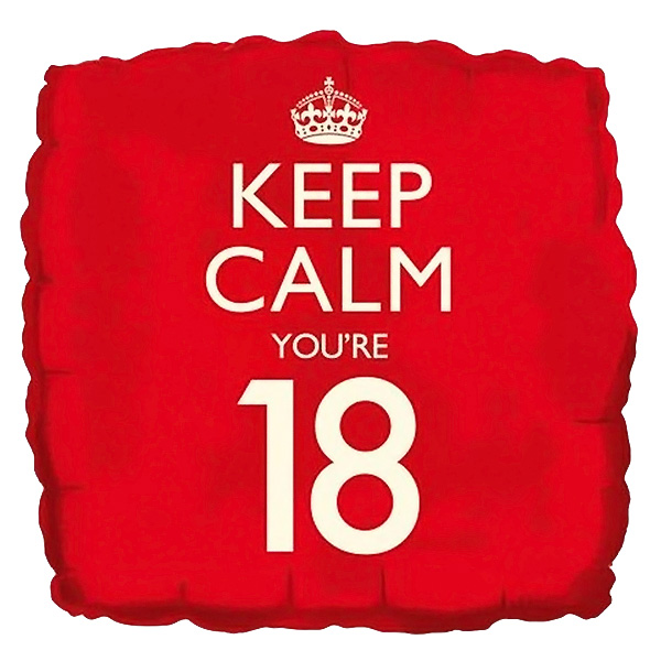 keep-calm-you-are-18-birthday-18-inch-square-foil-balloon-product-image