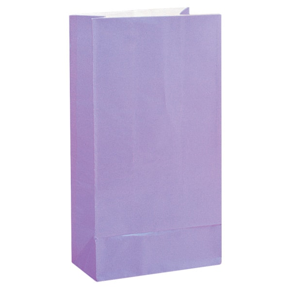 Lavender Paper Party Bags - Pack of 12 Product Image