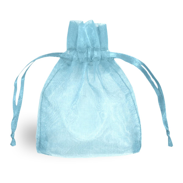 Light Blue Organza Bag Product Image