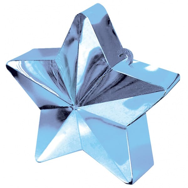 Light Blue Star Balloon Weight Product Image