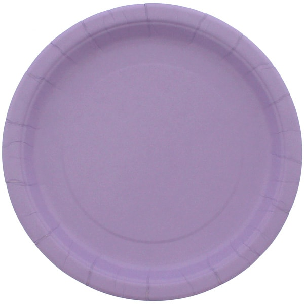 Lilac Round Paper Plate 22cm