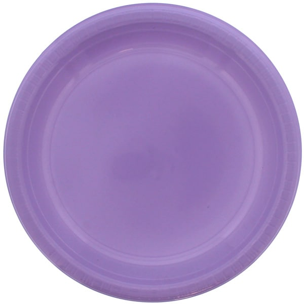 Lilac Plastic Plate - 9 Inches / 23cm