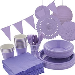 Lilac plain tableware