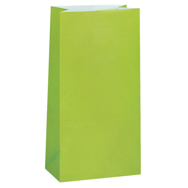 Lime Green Paper Party Bag - Pack of 12 Product Image