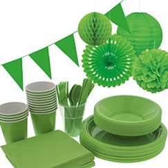 Lime Green plain tableware