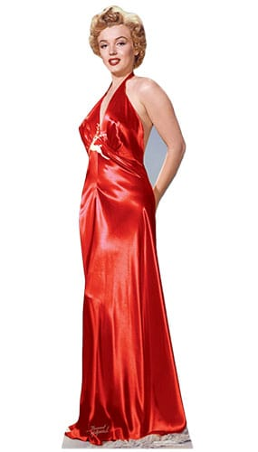 Marilyn Monroe Red Gown Lifesize Cardboard Cutout - 177cm Product Image