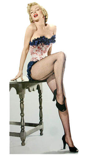 Marilyn Monroe Stockings Lifesize Cardboard Cutout - 175cm Product Gallery Image