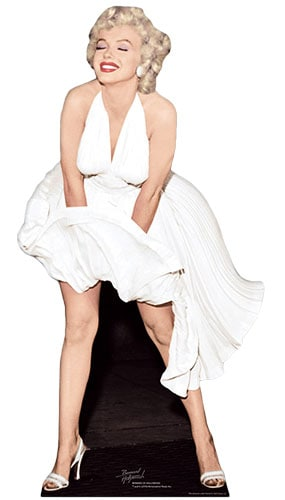 Marilyn Monroe White Dress Lifesize Cardboard Cutout - 183cm Product Gallery Image