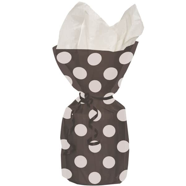 Midnight Black Decorative Dots Gift Bags - Pack of 20