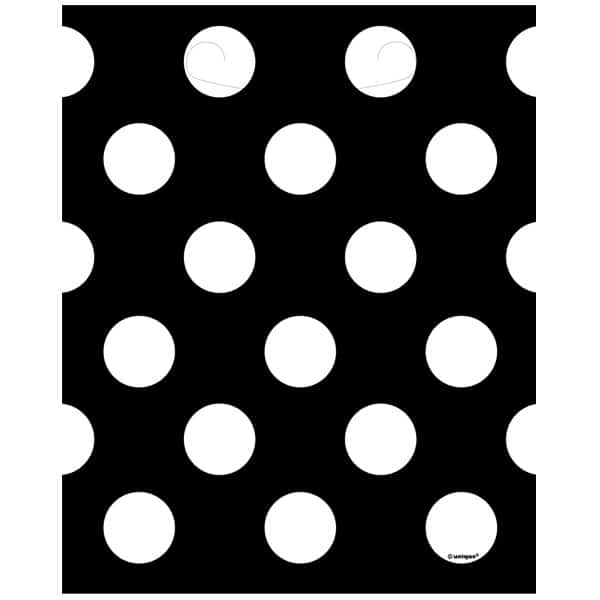 Midnight Black Decorative Dots Loot Bags - Pack of 8