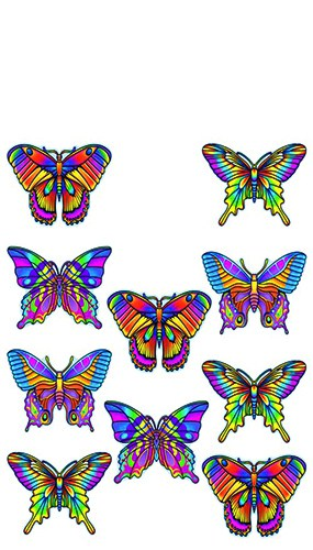 Mini Butterflies Cutouts - One Pack of 10