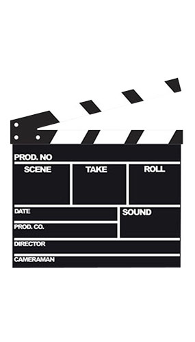 Movie Clapperboard Lifesize Cardboard Cutout - 107cm Product Gallery Image