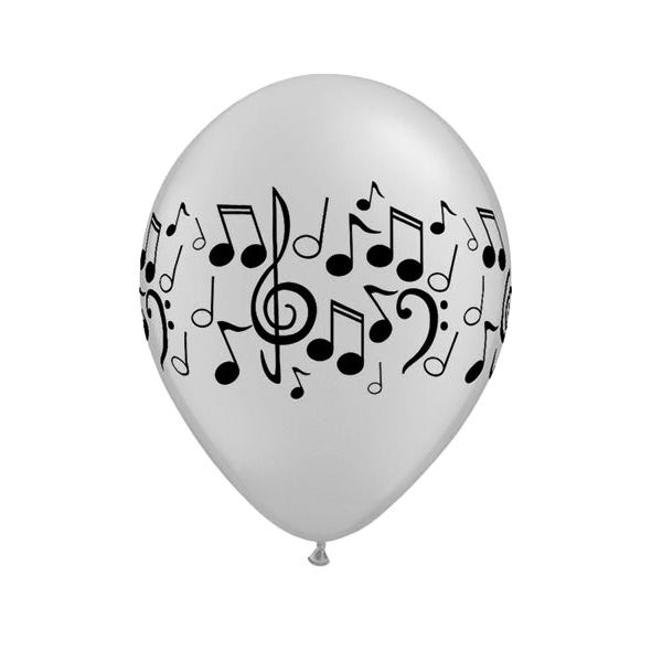 Musical Latex Qualatex Balloon - 11 Inches / 28cm