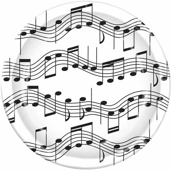 Musical Notes Paper Plate - 9 Inches / 23cm