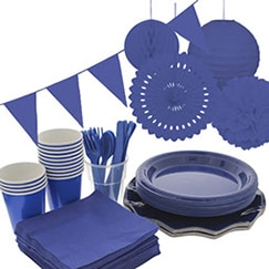 Navy Blue plain tableware