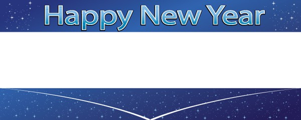 New Year Stars Design Large Personalised Banner - 10ft x 4ft