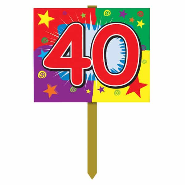 Number 40 Yard Lawn Sign