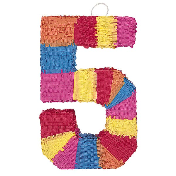 Number 5 Shaped Standard Pinata Product Image