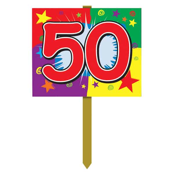 Number 50 Yard Lawn Sign