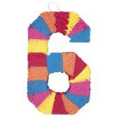 Number 6 Shaped Standard Pinata