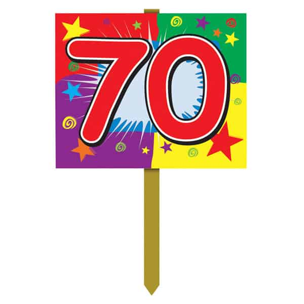 Number 70 Yard Lawn Sign