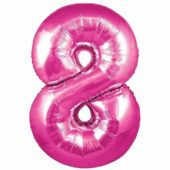 Pink Number '8' Supershape Foil Balloon – 30 Inches / 76cm