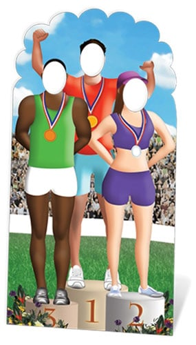 Olympics Podium Stand In Cutout - 195cm