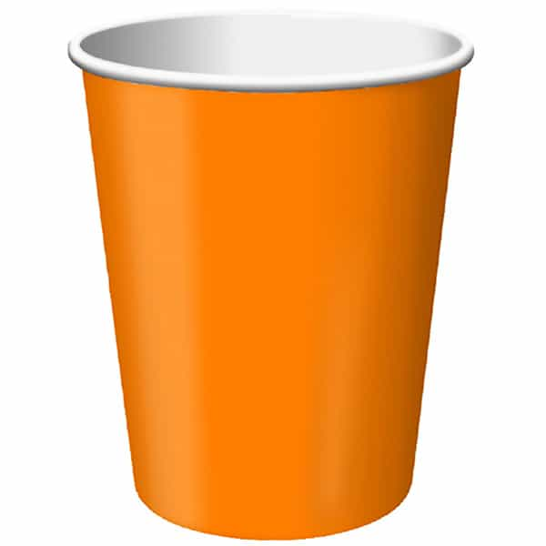 Orange Paper Cup - 9oz / 266ml