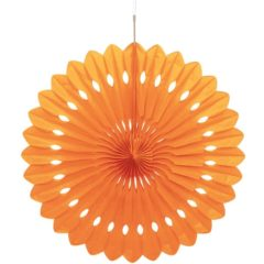 Orange Hanging Decorative Honeycomb Fan