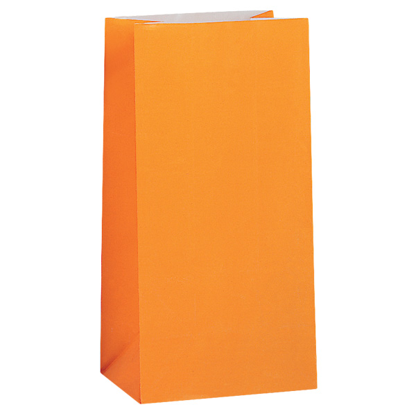 Orange Paper Party Bag - Pack of 12