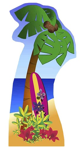 Palm Tree Lifesize Cardboard Cutout 153cm - Pre-order Product Gallery Image