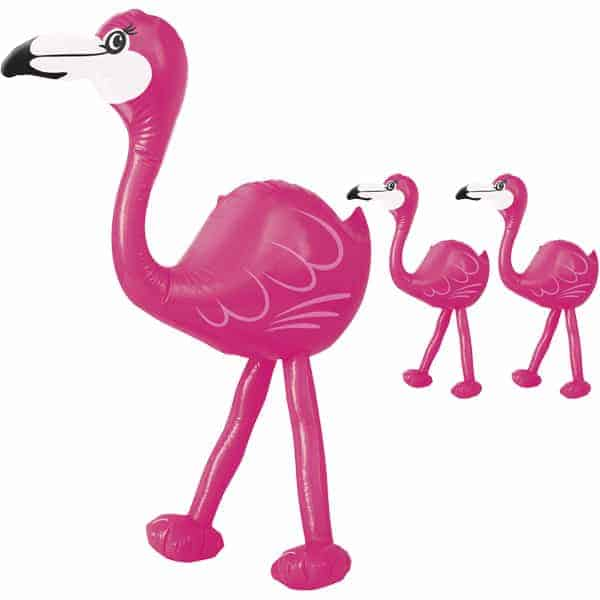 Party Time Inflatable Pink Flamingo - 22 Inches / 57cm - Pack of 3 Product Image