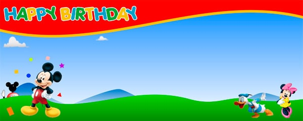 Mickeys Clubhouse Its a Birthday Personalised Banner | Partyrama.co.uk