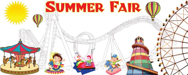 Summer Fair Theme Small Personalised Banner - 4ft x 2ft