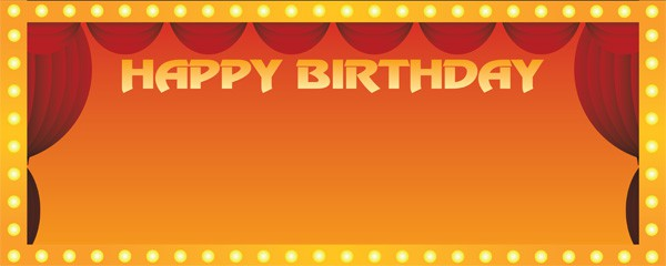 High School Musical Happy Birthday Design Large Personalised Banner - 10ft x 4ft