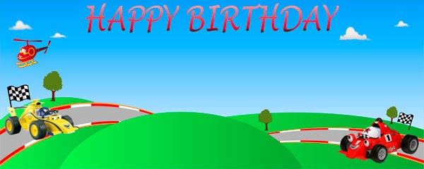 Roary Racing Car Birthday Personalised Banner Partyrama Co Uk