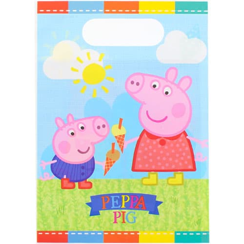 Peppa Pig Loot Bags - Pack of 8