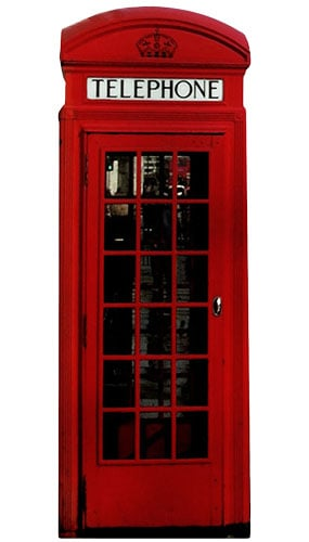 Phone Box Lifesize Cardboard Cutout - 191cm Product Gallery Image