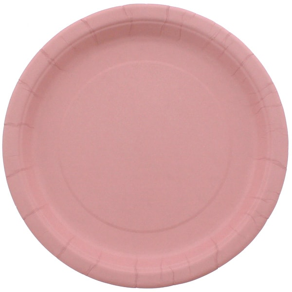 Pink Round Paper Plate 22cm