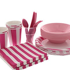 Pink And White Stripes Theme