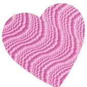 Pink Embossed Foil Heart Decorative Cutout – 9 Inches / 23cm