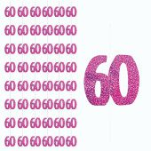 Pink Glitz 60th Birthday Hanging Decoration – 5 Ft  / 152cm – Pack of 6 Strings