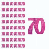 Pink Glitz 70th Birthday Hanging Decoration 5 Ft 152cm Pack Of 6 Strings