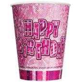 Pink Glitz Prismatic Paper Cup – 9oz / 266ml